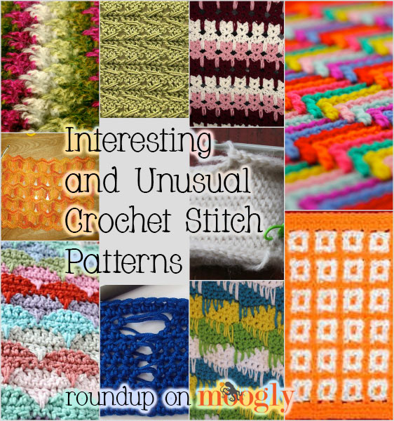 Crochet Stitches Unusual : Interesting and Unusual Crochet Stitch Patterns - 10 free tutorials!