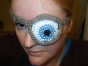 Mad Eye Patch - free Harry Potter crochet patterns