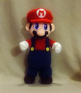 Mario Plushie - free crochet video game amigurumi patterns