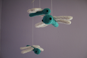 Dragonfly Mobile - Free Crochet Mobile Pattern
