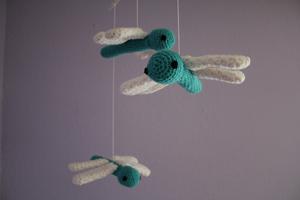Dragonfly Mobile - Free Crochet Mobile Pattern