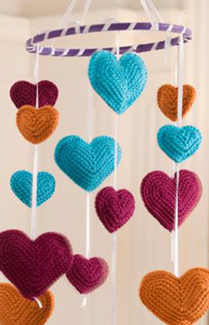Flying Hearts Mobile - Free Crochet Mobile Pattern