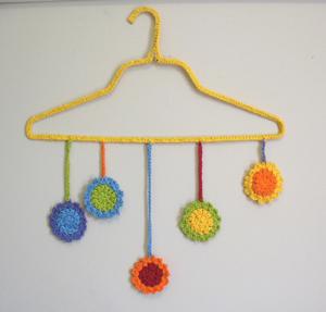 Happy Happy Joy Joy - free crochet mobile pattern