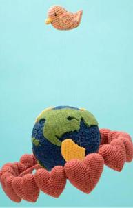 Hearts Around the Globe - Free Crochet Mobile Pattern