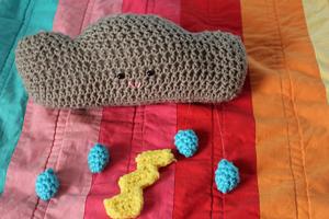Thunderstorm Mobile - free crochet mobile pattern