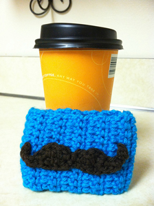 Mustache Applique  - free crochet applique pattern