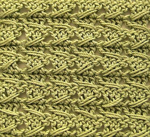 """Samurai"" Crochet Relief Stitch - unusual crochet stitch patterns"