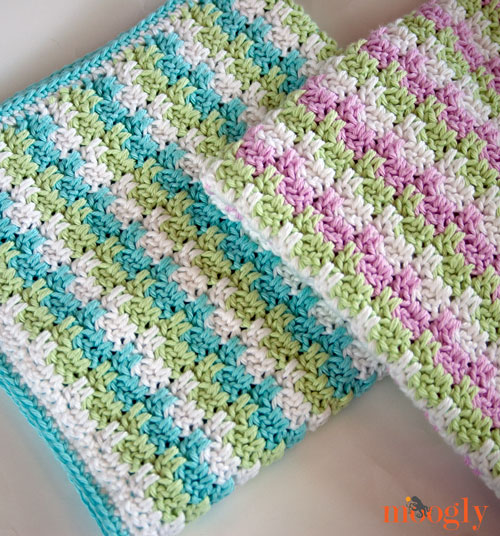 Crochet Queen Size Blanket Pattern : Leaping Stripes and Blocks Blanket - free crochet pattern on Moogly!