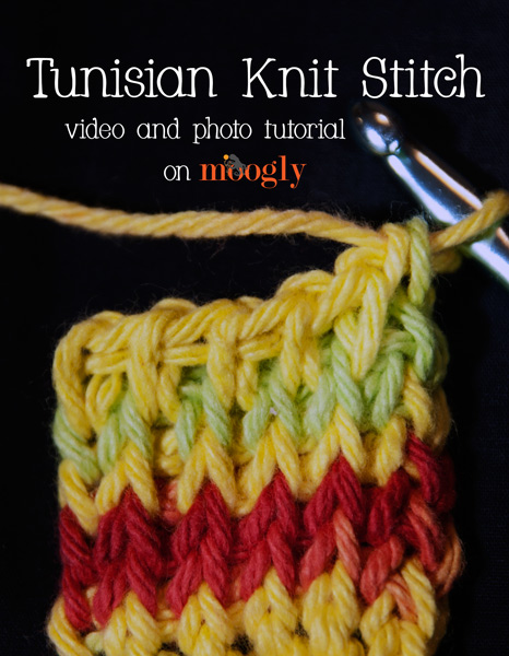 Video And Photo Tutorial Tunisian Knit Stitch Moogly