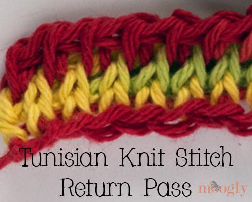 Tunisian Knit Stitch: Video and Photo Tutorial