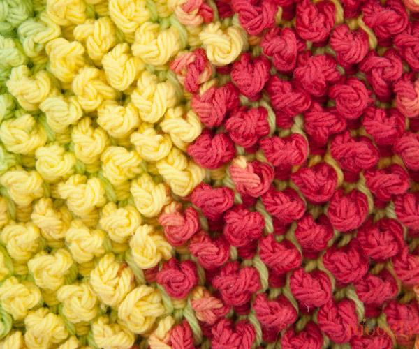 Tunisian Pebbles Dishcloth - free pattern perfect for learning Tunisian crochet!