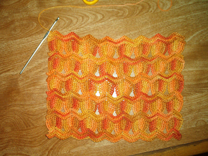 Vintage Fan Ripple Stitch - unusual crochet stitch patterns
