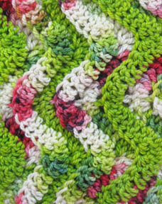 Watermelon Wave Baby Blanket - Free Watermelon Crochet Patterns! Roundup on Moogly