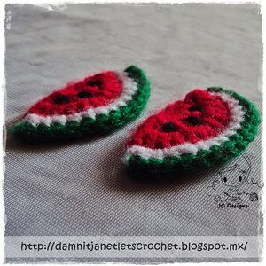 Watermelon Wedge Applique - Free Watermelon Crochet Patterns! Roundup on Moogly