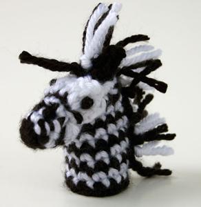 Zebra Finger Puppet - free zebra crochet pattern