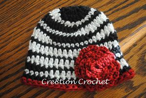 Zebra Newborn Hat - free zebra crochet pattern