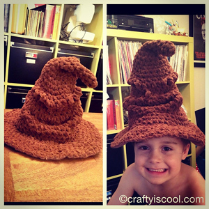 Harry Potter Sorting Hat  - free Harry Potter crochet patterns