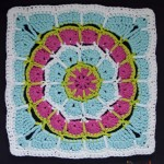 "Magic Spike Mandala 12"" Square - free crochet pattern"