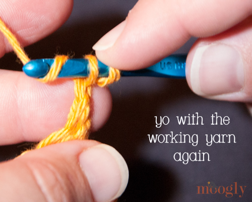 Chainless Starting Double Crochet : Video and Photo Tutorial