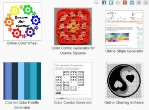 Great online color tools for planning your crochet projects! At CrochetHappy.com!