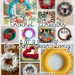 Wreaths for All Year: 12 Free Crochet Wreath Patterns!