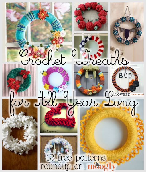 Christmas Decorations All Year Long: Wreaths For All Year: 12 Free Crochet Wreath Patterns