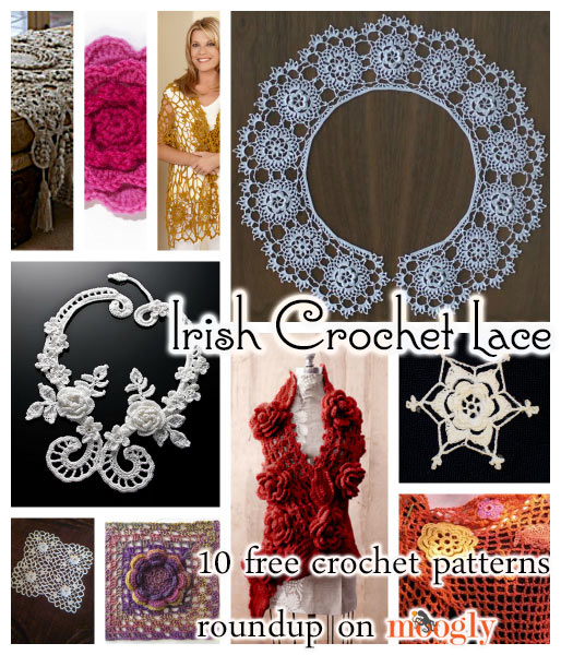 Free Crochet Pattern Irish Lace Scarf : Beautiful and Inspiring Irish Crochet Lace: 10 Free ...
