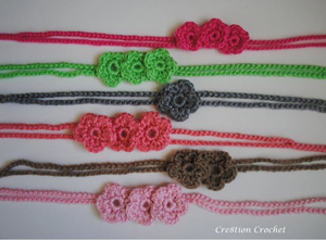 Simple and Sweet Tie Back/Headband Set by Cre8tion Crochet!
