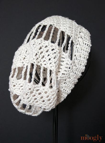 Spinning Summer Slouchy Beanie - free crochet pattern on moogly