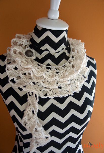 Tallulah Waterfall Scarf - free crochet pattern on Moogly