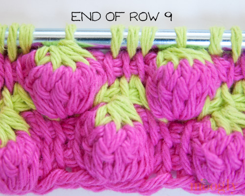 Tunisian Strawberry Stitch: Video and Photo Tutorial on moogly