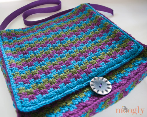 Free Crochet Pattern Mesmerizing Messenger Bag Moogly