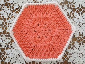 African Flower Dishcloth - roundup of Free African Flower Motif Patterns on Moogly!
