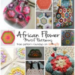 10 Fun & Free African Flower Motif Patterns!