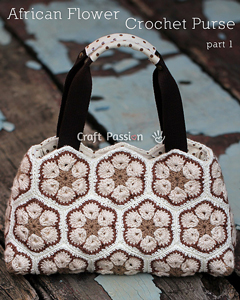 African Flower Purse - roundup of Free African Flower Motif Patterns on Moogly!