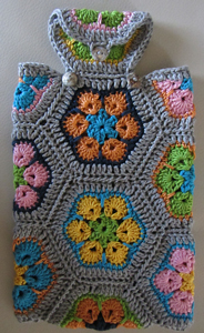 African Flowers Hot Water Bottle Cover - roundup of Free African Flower Motif Patterns on Moogly!