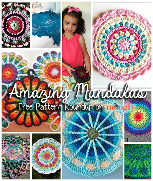 You Spin Me Round Like A Mandala 10 Free Mandala Crochet Patterns
