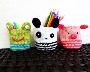 Ami Baskets :: Free Crochet Frog Patterns! Hop to it!