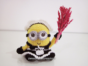Amigurumi Frenchie the Minion - free Minons crochet patterns roundup on Moogly!