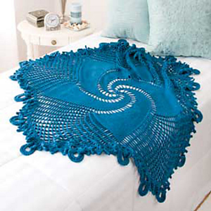 Blue Mandala Throw - Free #Mandala #Crochet Pattern Roundup