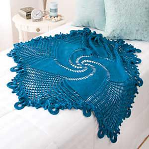 Blue Mandala Throw - Free #Mandala #Crochet Pattern Roundup