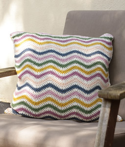 Chevron Cushion Cover Crochet Pillow Pattern