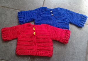 Chunky Monkey Baby Cardigan - Free Crochet Cardigan Patterns for Baby Boys! Roundup on Moogly