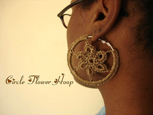 Circle Flower Hoops :: Free Crochet Thread Earrings Roundup on Moogly