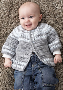 Cluster Yoke Cardigan - Free Crochet Cardigan Patterns for Baby Boys! Roundup on Moogly