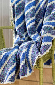Corner-to-Corner Throw - free stash buster afghan crochet patterns