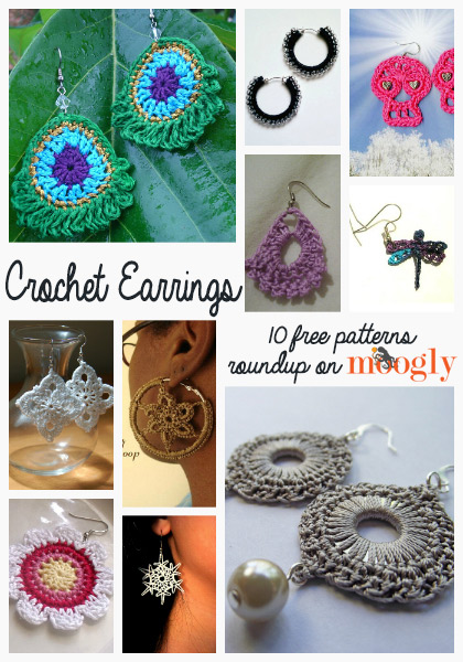 Free Crochet Earrings Roundup on Moogly