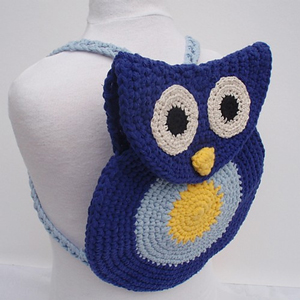 OWL BOOK BAG CROCHET PATTERN CROCHET