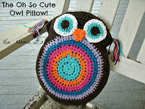 Crochet Owl PIllow :: Crochet Pillow Pattern