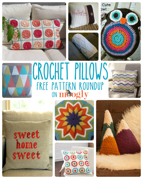 Refresh and Restyle with Free #Crochet Pillow Patterns! Roundup on Moogly!